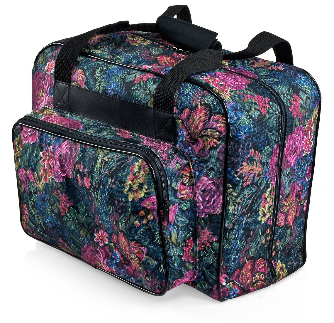 Distinctive Large Floral Pattern Premium Sewing Machine Universal Tote Bag - Walmart.com
