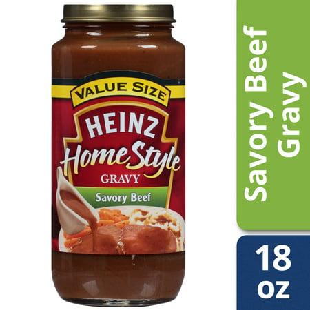 Organic Brown Gravy - (2 Pack) Heinz Home-Style Savory Beef Gravy, 18 oz Jar