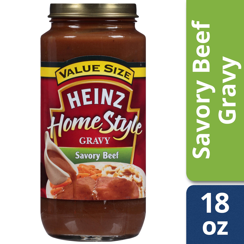 (2 Pack) Heinz Home-Style Savory Beef Gravy, 18 oz Jar