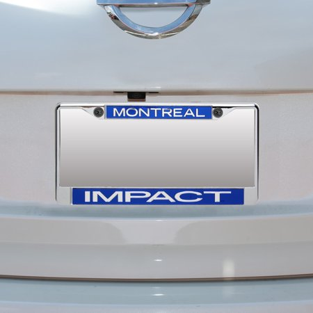 Montreal Impact Acrylic Insert Chrome License Plate Frame - No Size Chrome Plated Insert