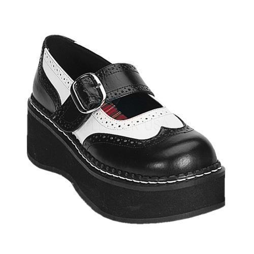 EMI302 BW PU Demonia Platform Sandals & Shoes Womens WHITE Size: 8 by