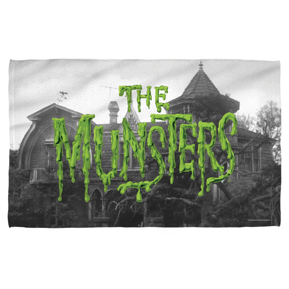 Munsters Logo Beach Towel White 36X58