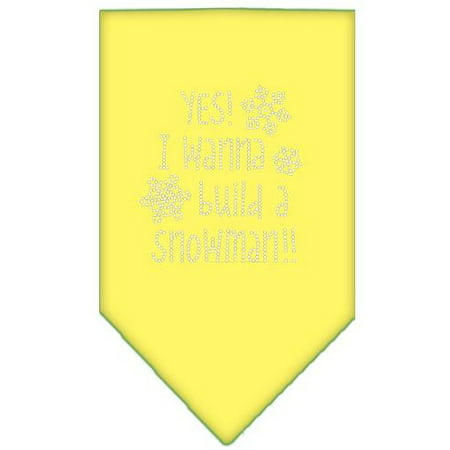 Yes! I Want To Build A Snowman Rhinestone Bandana Yellow Large](Build Snowman)