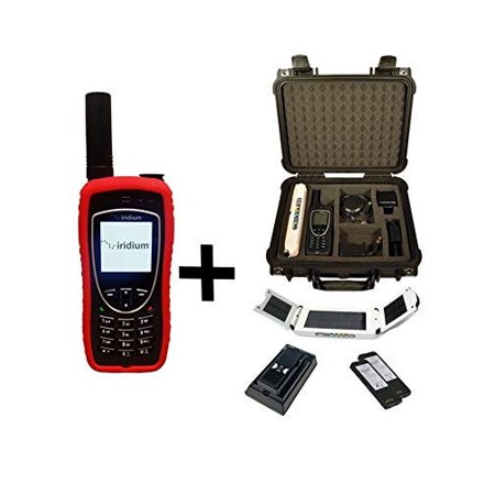 Iridium 9575 Extreme Satellite Phone Emergency Responder Package with Pelican Case, Solar Charger, Desktop Charging Dock and Blank Prepaid SIM Card Ready for Easy Online