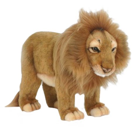 Hansa Standing Male Lion Plush Toy