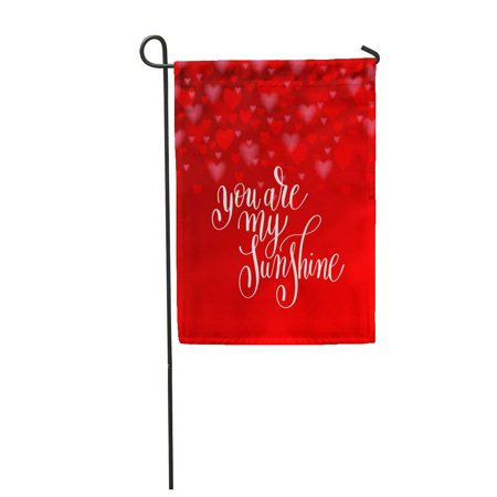 LADDKE You are My Sunshine Lettering Saying About Love to Valentines Garden Flag Decorative Flag House Banner 12x18 (Valentine's Sayings)
