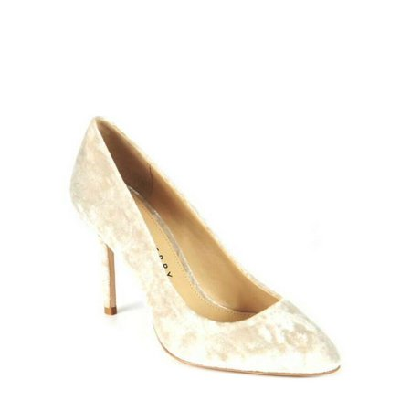 Katy Perry The Sissy Crushed Velvet Pearl Pump, Size 5.5 M
