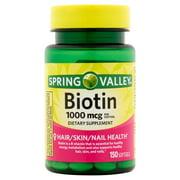 Spring Valley Biotin Softgels, 1000mcg, 150 Count