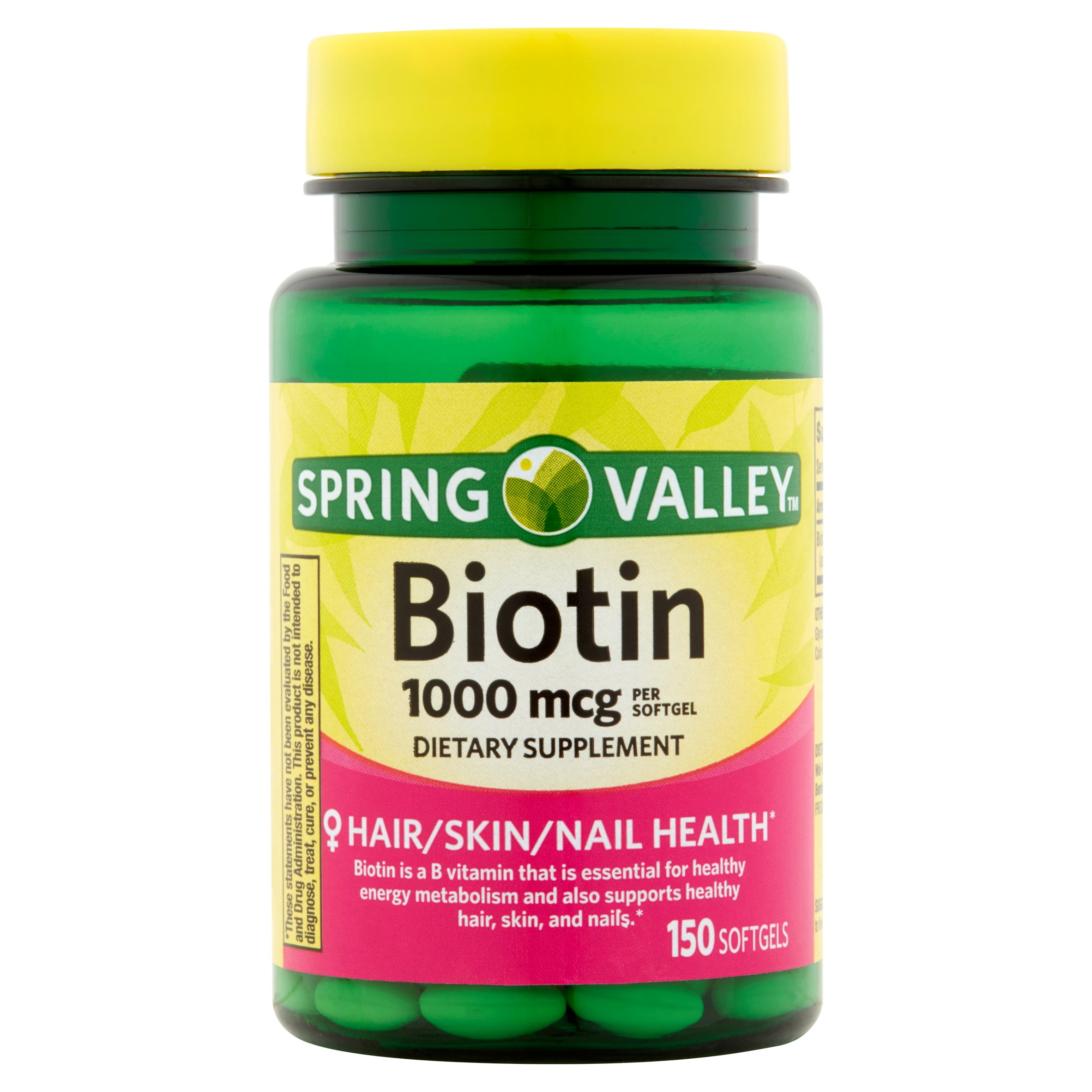 Spring Valley Biotin Softgels, 1000 mcg, 150 Ct