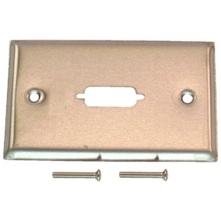 Db15 Switch (IEC WS11501 Stainless Steel Wall Plate with 1 Cutout for a DB15 Connector)