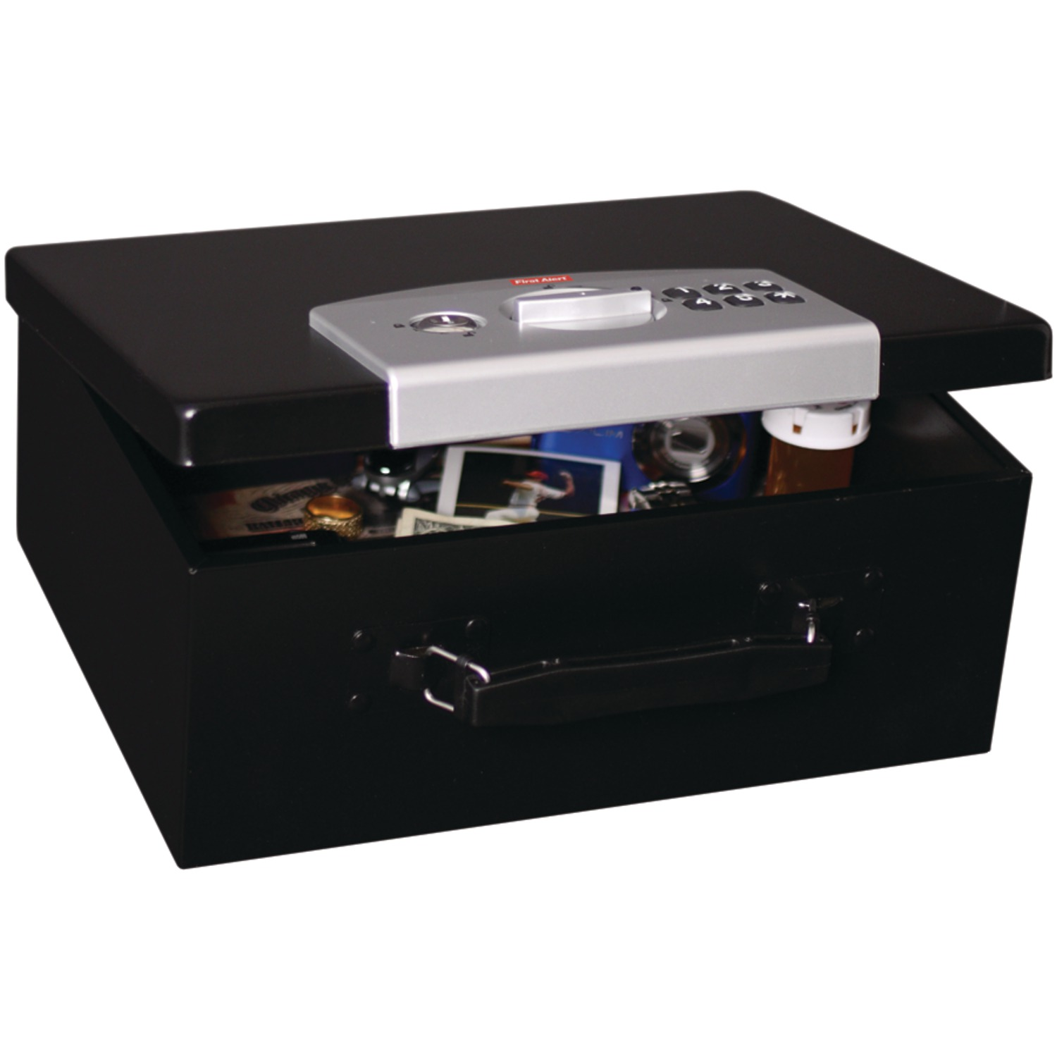 First Alert 0.3 cu. ft. Steel Security Box with Electronic Lock, 3035DF
