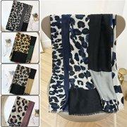 Women's Fashion Long Shawl Leopard Print Winter Warm Large Scarf