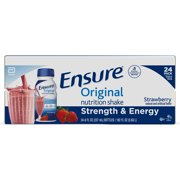 Ensure Original Nutrition Shake with 9 grams of protein, Meal Replacement Shakes, Strawberry, 8 fl oz, 24 count