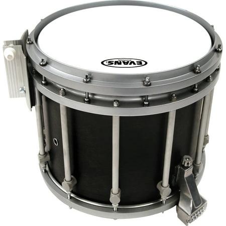 Hybrid Marching Snare Drum Batter Head White #602 Bistro Black