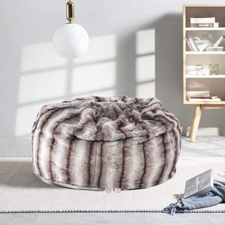 Astonishing Karmas Product Faux Fur Bean Bag Chair Luxury And Comfy Big Beanless Bag Chairs Plush Furry Chair Soft Sofa Lounger For Adults And Kids Sponge Andrewgaddart Wooden Chair Designs For Living Room Andrewgaddartcom