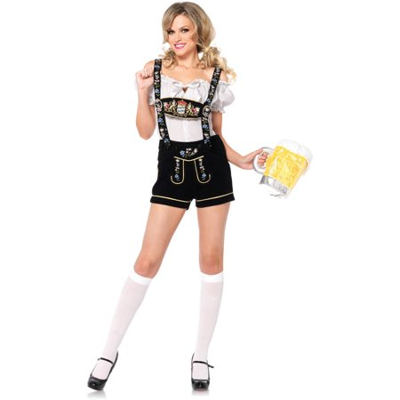 Leg Avenue Edelweiss Lederhosen Adult Halloween Costume - When Did Halloween Start For Kids