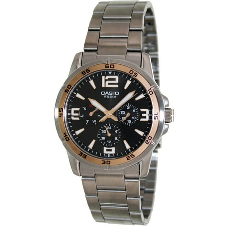 Casio Men's Classic MTP1299D-1AV Silver Stainless-Steel Quartz Fashion Watch
