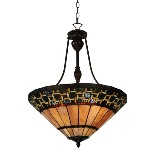 """Meyda Tiffany 125115 Ilona 3 Light 20.5"""" Wide Hand-Crafted Pendant with Stained Glass by Meyda Tiffany"""