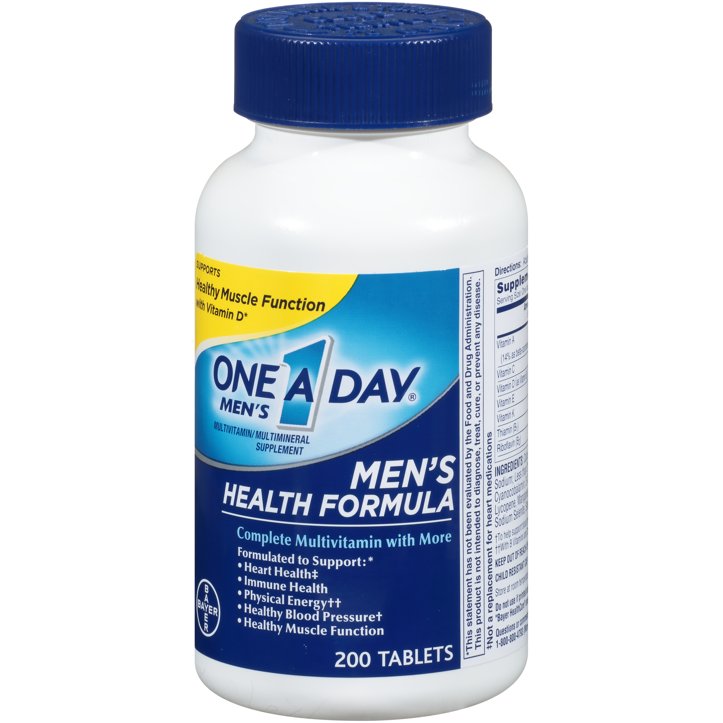 One A Day Men\'s Health Formula Multivitamin Tablets, 200 ct ...