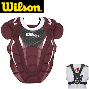Wilson ProMOTION Baseball Chest Protector - 18in Adult - Maroon