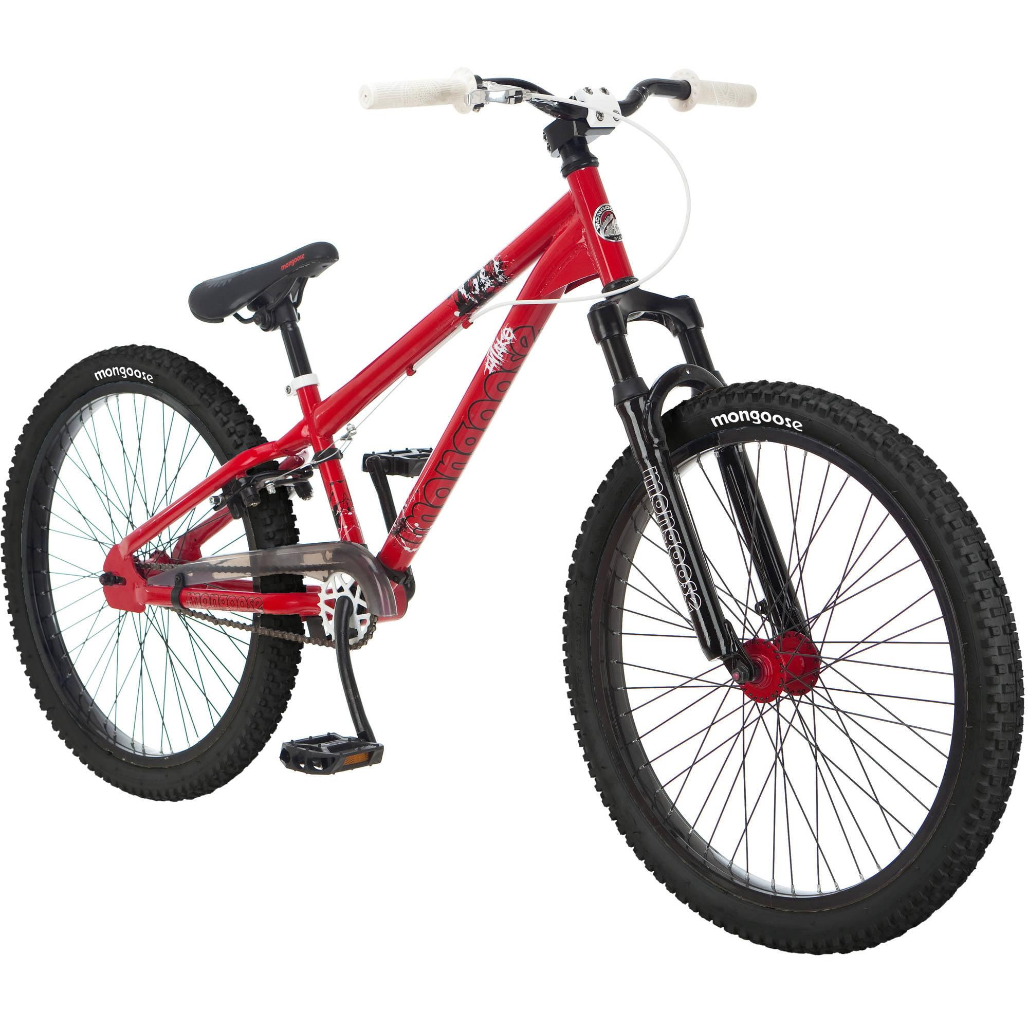 Mongoose Boy S Status 2 2 24 Full Suspension Mountain Bike