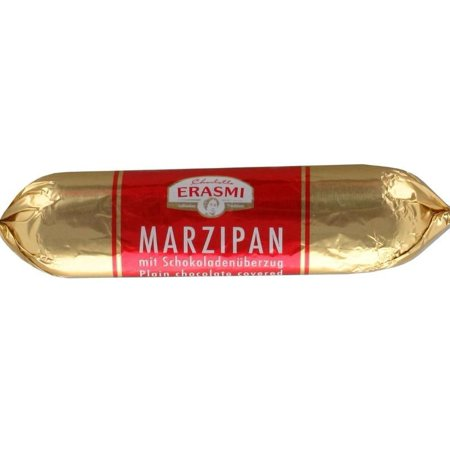 Chocolate Covered Marzipan Bar (Erasmi) 3.5 oz (Small Marzipan)