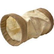 Ware Mfg. Inc. Dog/cat-Burlap Tunnel With Crinkle Sound- Natural