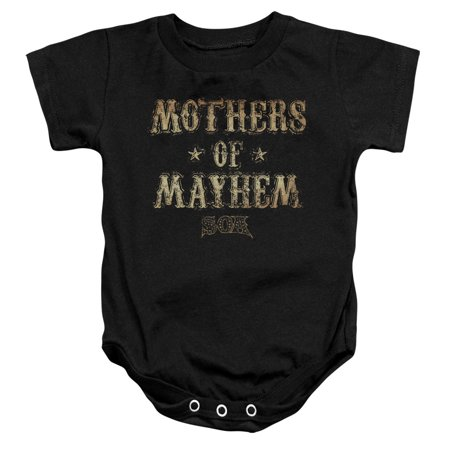 Sons of Anarchy Crime Drama TV Series Mothers of Mayhem Infant Romper Snapsuit