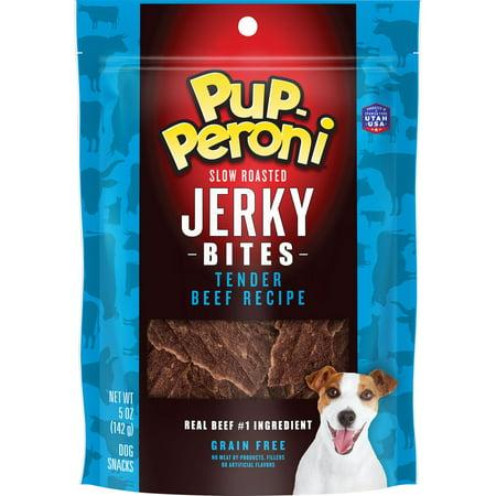 Pup-Peroni Jerky Bites, Tender Beef Recipe, Grain-Free Dog Treats, 5-Ounce