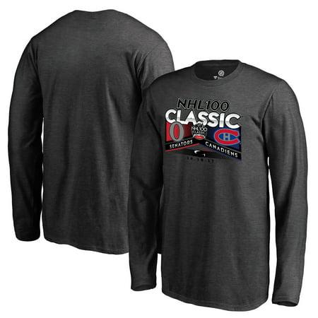 Ottawa Senators vs. Montreal Canadiens Fanatics Branded Youth 2017 NHL 100  Classic Matchup Long Sleeve T-Shirt - Heathered Gray - Walmart.com b54cb15c0