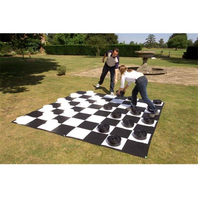Garden Games CE611-M Giant Checkers Set with Mat by