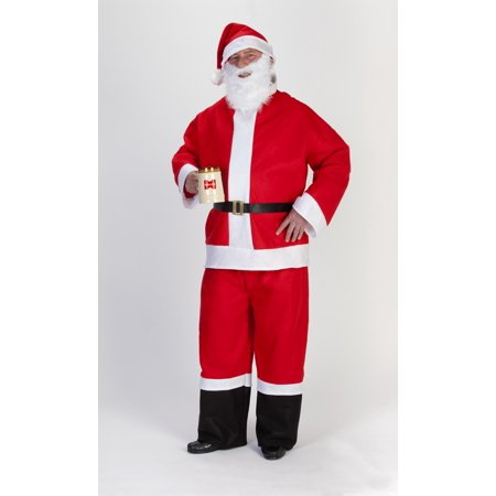 5 Piece Saloon Spree Santa Christmas Suit – Size Adult XXL