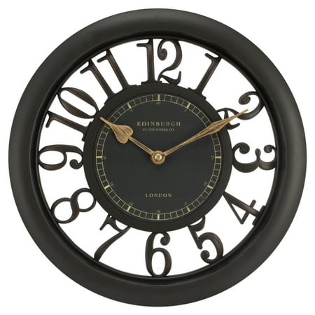 Equity by La Crosse 20858 11 1/2 inch Brown Floating Dial Wall (Quiet Sweep Floating Clock)
