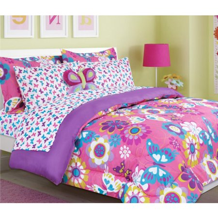 Girls Kids Bedding Maya Butterfly Bed In A Bag Comforter