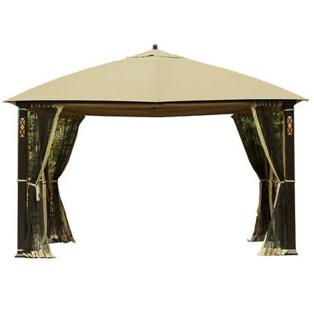 Garden Winds Replacement Canopy Top for the Cedar River Gazebo, Beige