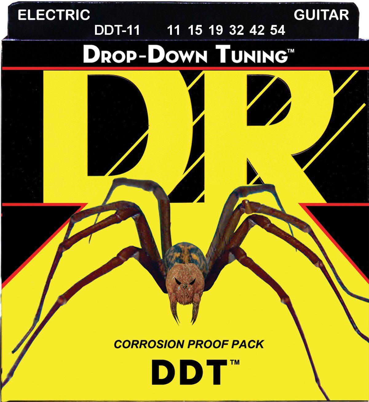 DR Strings DDT-11 Nickel Plated Electric Guitar Strings, Heavy by DR Strings