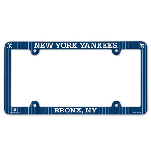 New York Yankees Official MLB 12 inch x 6 inch  Plastic License Plate Frame by Wincraft