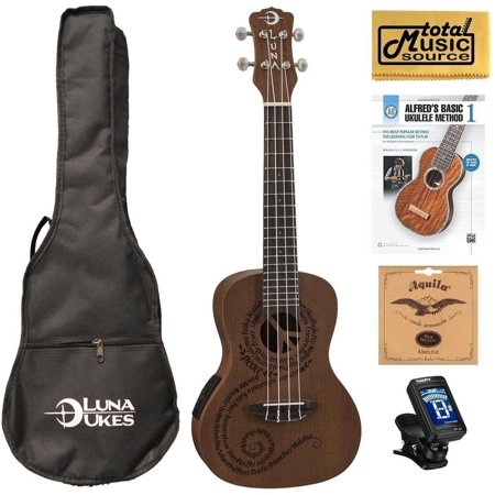 luna mahogany series maluhia peace acoustic electric concert ukulele w gigbag tuner strings book. Black Bedroom Furniture Sets. Home Design Ideas