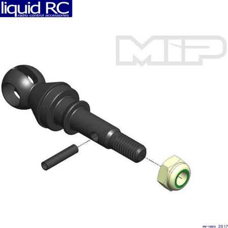 MIP 18131 CVD Axle 17mm Offset w/ 12mm x 6mm Bearing (Mip Cvd Axle)