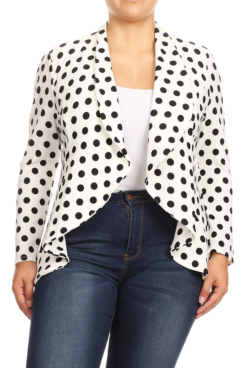 Women's Polka Dot Printed Jacket