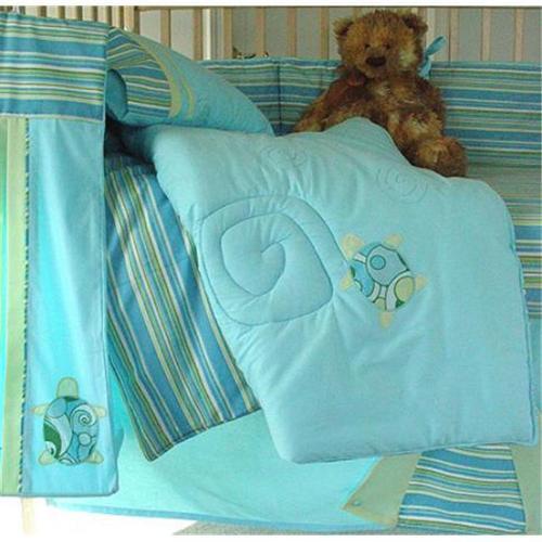 Little Fern OS06001S Turtle Twist Crib Sheet