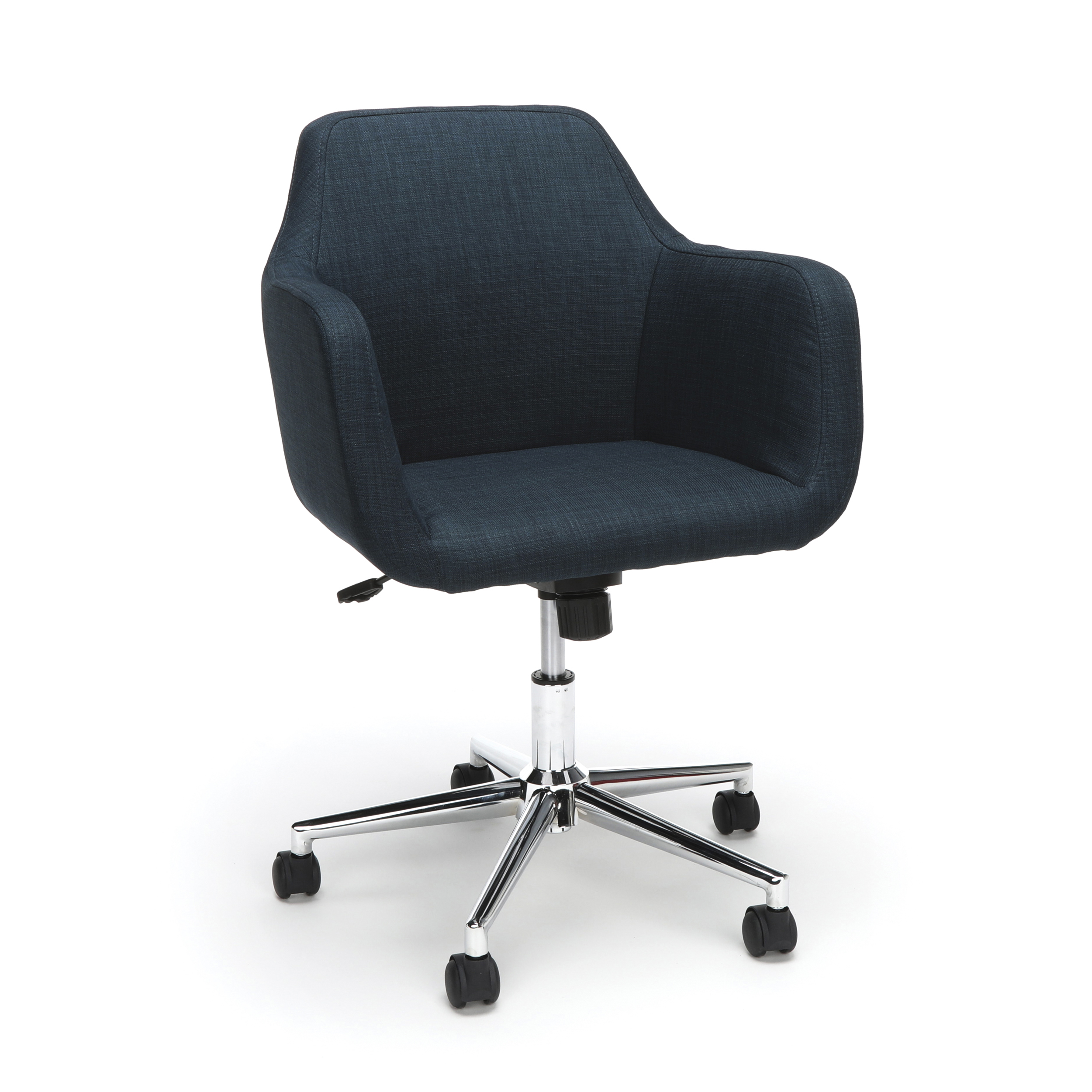 Ess 2085 Blu Office Furniture Essential Series Blue Fabric Upholstered Desk Chair With Chrome 5 Star Base Walmart Com Walmart Com
