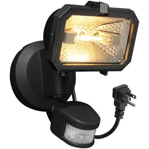 Brinks 180 Degree Halogen Plug In Motion Activated Security Light Grey - Walmart.com