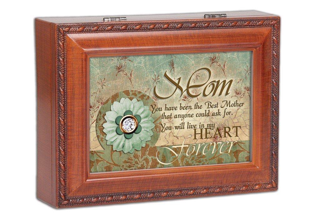 Cottage Garden Mother Wind Beneath My Wings Musical Wood Grain Music Box by Cottage Garden