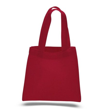 100% Cotton Budget Friendly Wholesale Mini Gift Tote Bag - TB106 - Set of 12, Red](Wholesale Totes)