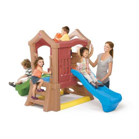 Step2 Play Up Double Slide and Climbing Wall for Toddlers - Step 2 Outdoor Playset