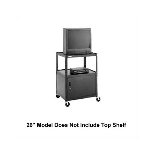 Da-Lite Pixmate 25'' x 30'' Shelf Television Cart with Cabinet [25.5'', 34'', 42'', 48'', 54'']