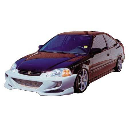 JSP Ground Effect Body Kit Front Bumper For 1996-1998 Honda Civic Primed  (Honda Civic Ground Effects Body)
