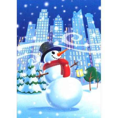 Image Arts Big City Snowman Holiday - Card And Party City