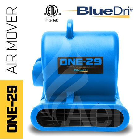 ONE-29 Portable Air Mover Carpet Dryer 3 Speed 2.9 AMPS Fully Stackable GFCI 4 Unit Daisy Chain Capability with 25 Feet Cord, Blue (Carpet Dryer)
